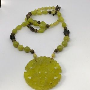 Jewelry - Yellow Jade Necklace